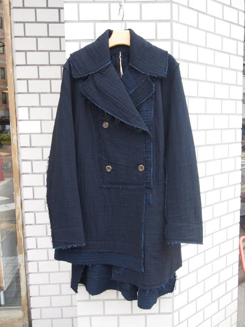 ≪SALE/セール/30%OFF≫[送料無料]FORME D' EXPRESSION/RAWEDGED ASYMMETRIC COAT.  [44-162-0018]