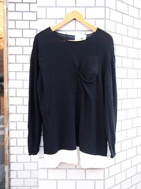 【SALE/セール/30%OFF】[送料無料]SANGUE SACRO SULLE ROSE/KNIT COTTON BLACK. [36-171-0001]
