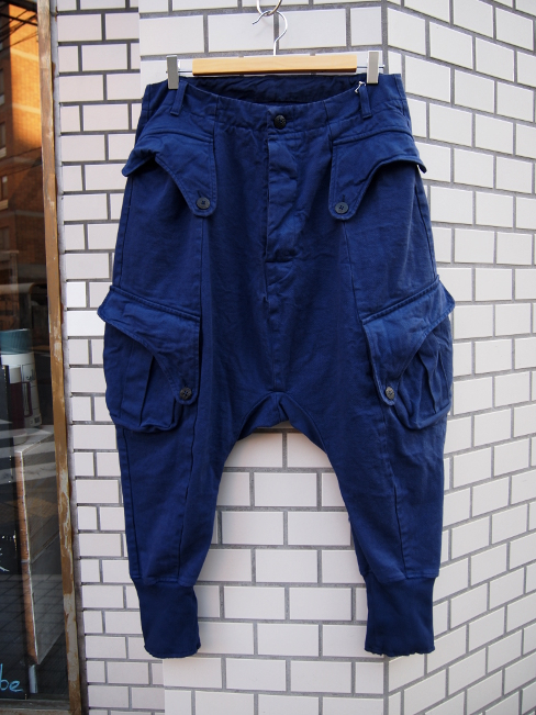 【SALE/セール/30%OFF】[送料無料]SANGUE SACRO SULLE ROSE/WORK TROUSERS BLUE. [33-171-0001]