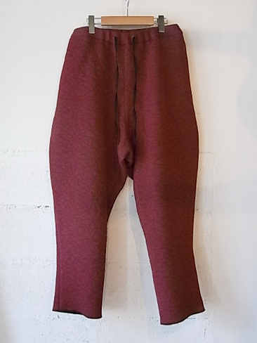 ≪30%OFF≫[送料無料]アガノヴィッチ/AGANOVICH/LOW CROTCH TROUSER. [TR01 JERST][33-152-0005]