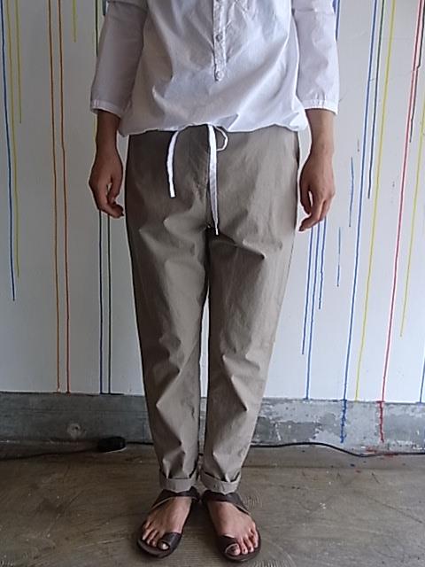 ●[セール/SALE/30%OFF][送料無料]Hannes Roether/Cotton Long Pants[43-121-0006]