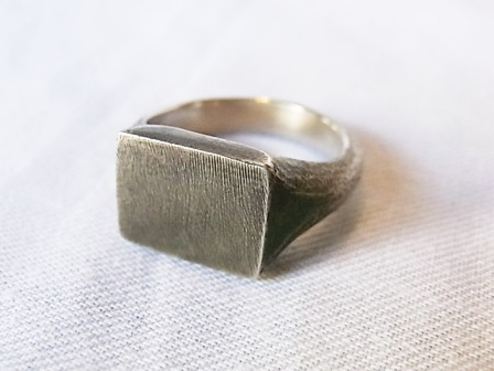 WERKSTATT:MUNCHEN/Signet Ring Plate Shade[14M1132][39-142-0002]