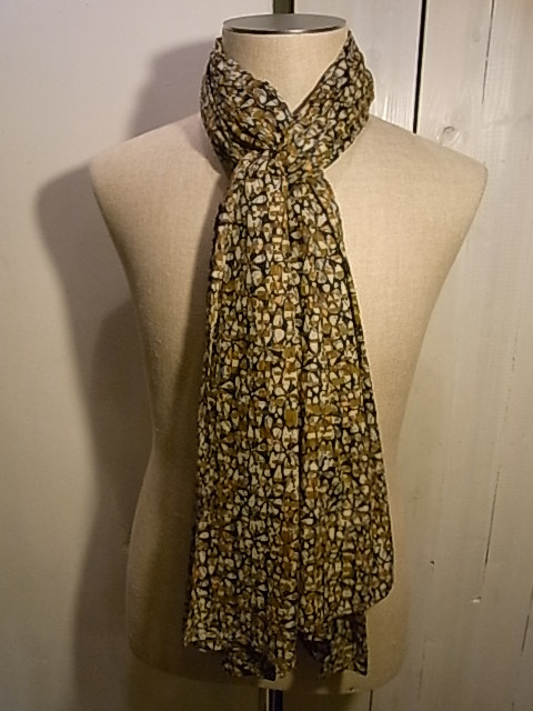 【SALE/セール30%OFF】HOPE:Woven Scarf オークパターンスカーフ[49-122-0022-3]