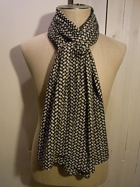 【SALE/セール30%OFF】HOPE:Woven Scarf ドットスカーフ[49-122-0022-2]