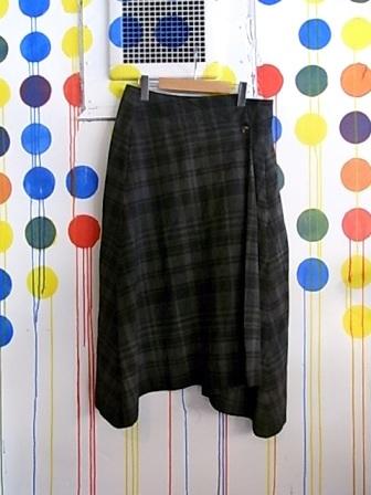 ◎[送料無料]forme d'expression;Wrap Skirt Gament dyed[43-141-0005]