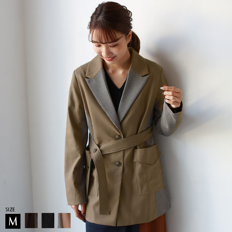 【特別価格】 CYNICAL チェックデザインジャケットコート(952-95030)