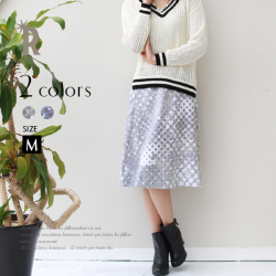 【Cu】ドットグラフィックデザインスカート(Z54851)