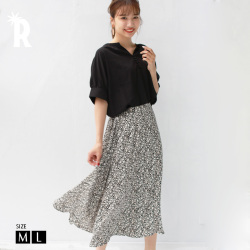 REAL CUBE 小花柄フレアスカート (991021)