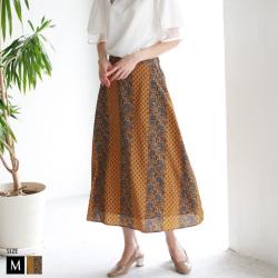 【ポイント100%還元】INNOWAVE ペイズリーラインスカート (85-96562)