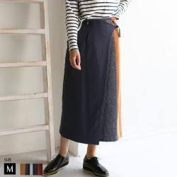 【ポイント100%還元】HOOCHIE COOCHIE 日本製バイカラースカート (913848)