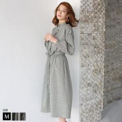 【特別価格】 ハウンドトゥースチェックシャツワンピース Buyer's select (28870A432)