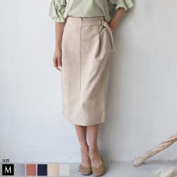 【5/6までポイント100%還元】【特別価格】 Lupino  デザインベルトタイトスカート(55259)
