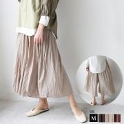 【特別価格】 saburoku ワッシャープリーツ加工ワイドパンツ(365-3247)