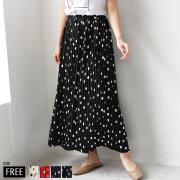 【ポイント100%還元】【特別価格】 SUGAR ROSE ドットプリーツロングスカート(299010)