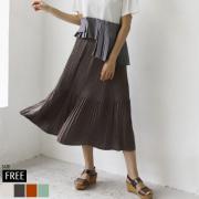 ヴィンテージサテンプリーツスカート(WQN1473)
