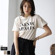 ロゴフロッキープリントTシャツ(M103-064T)【メール便】