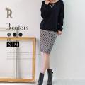 Buyer's select 日本製フロッキードットプリントタイトスカート(M-8045)