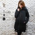 Cloche裾異素材グラデーションダウンコート(450-84001)