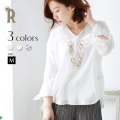 Hoochie'C 日本製 前後切替えデザイン袖口リボンスキッパーシャツ (613513)