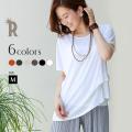 REAL CUBE シャリ感サイドタックデザインブラウスTシャツ(981635)★メール便配送