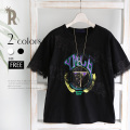 Pauline Bleu レース×ロゴデザインTシャツ(18874)【2017 S/S】▼