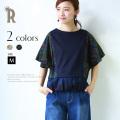 【特別価格】Buyer's select Made in Japan ジオメトリック刺繍フレアスリーブトップス(710-65005)▼