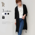 【特別価格】Buyer's select Made in Japan ウエストベルト付楊柳素材ガウンロングカーディガン(710-61002)▼