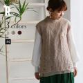 【特別価格】Buyer's select 日本製 【Yamagata Knit】ティアードシフォンアルパカニットベスト(752-65010)▼