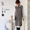 【特別価格】Buyer's select 日本製 【Yamagata Knit】マルチストライプチュニックワンピース(752-65025)▼