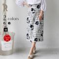 mink chair 日本製 フラワー刺繍×チェック柄タイトスカート(22505)【2018 S/S】▼