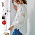 Hoochie Coochie 日本製 フリンジフラワー刺繍スリーブスキッパーシャツ(812540)【2018 S/S】▼