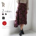 Hoochie Coochie 日本製 ジャガード刺繍フラワーヘムスカート(814876)【2018 A/W】▼