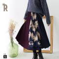 REAL CUBE レース×カラーブロックスカート(TH81005)【2018 A/W】【予約:10月19日頃】▼
