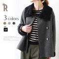【ALL50%OUTER】【Cu】フェイクムートンショートコートアウター(Z23099)▼