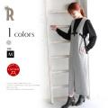 【Summer SALE】【特別価格】CLOCHE 日本製リボンベルトデザインウール100%ジャンパースカート (860-85101)▼