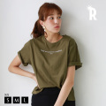 REAL CUBE 英字ロゴTシャツ (M915042)【2019 S/S】▼★メール便発送