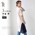 【Summer SALE】【特別価格】ROSIEE サイドプリーツチュニックワンピース(312736) ▼
