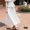 REAL CUBE フラワープリントフレアスカート(991011)【2019 S/S】▼