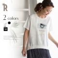 【特別価格】 L'altro バックデザイン転写プリントTシャツ(71843)▼