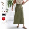 【特別価格】(912-66512)Buyer's select 日本製 リネン紐付きラップスカート▼