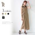 【特別価格】 (912-85557) CLOCHE リネンラップジャンパースカート▼
