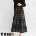 nougatine サイドボタン起毛セミタイトスカート(WQA2103/WQA2104) 【2019 A/W】▼