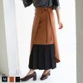 TRANOI ラップバイカラーデザインスカート(136R510) 【2019 A/W】▼