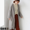 【ALL50%OUTER】【特別価格】ROSIEE ノーカラーガウンコート(190101) 【2019 A/W】▼