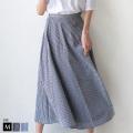 【5/6までポイント100%還元】Buyer's select ギンガムチェック切替デザインスカート(28103A134)