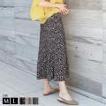 【ポイント100%還元】REAL CUBE 小花柄消しプリーツスカート(650410-01)