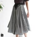 【ポイント100%還元】33℃ ZIPデザインストライプスカート(gz952130)