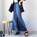 CYNICAL 配色デザインデニムスカート(112-96010)