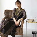 フラワー刺繍ワンピース(WOA9868)