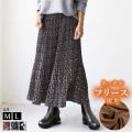 裏地フリース消しプリーツスカート(681900-00)